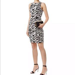 MOSCHINO CHEAP CHIC zebra print sheath dress